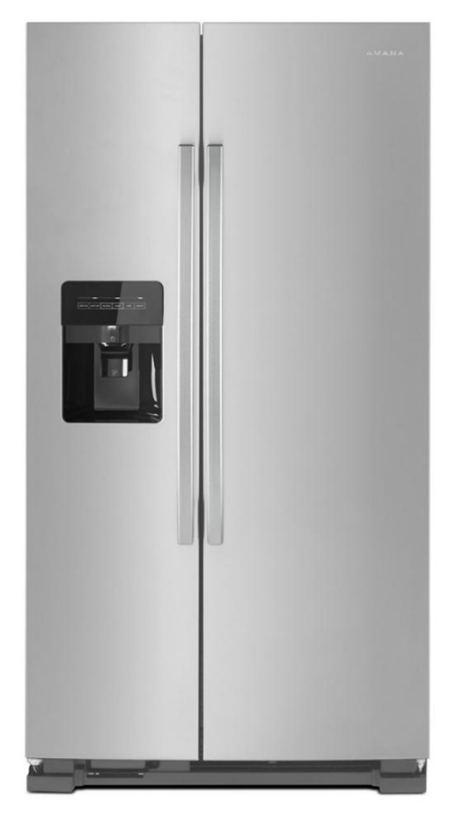 Amana 24.6 cu. ft. Side by Side Refrigerator with Dual Pad External Ice and Water Dispenser in Stainless Steel (Model # ASI2575GRS)
