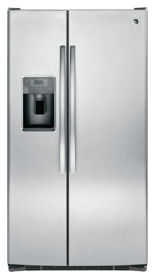 GE Model 25.3 cu. ft. Side by Side Refrigerator in Stainless Steel (Model # GSS25GSHSS)