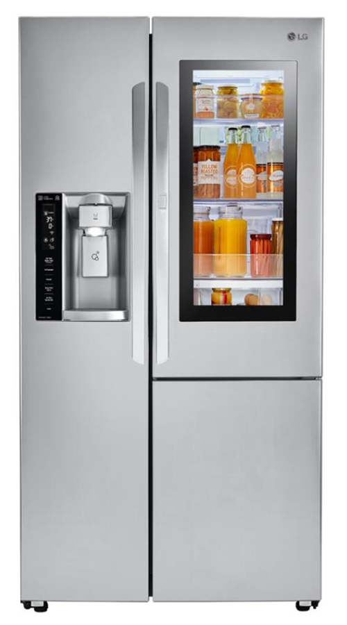 LG Electronics 21.7 cu. ft. Side by Side Smart Refrigerator with InstaView Door-in-Door in Stainless Steel, Counter Depth (Model # LSXC22396S)