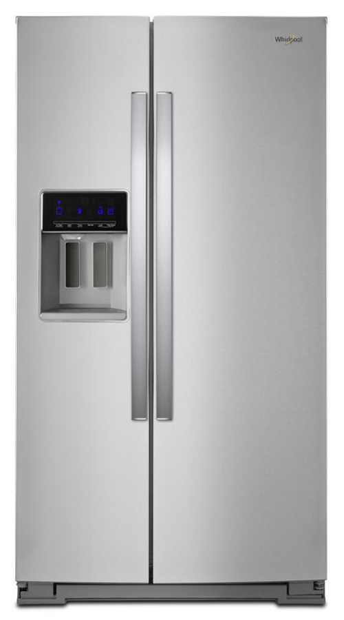 Whirlpool 28 cu. ft. Side by Side Refrigerator in Fingerprint Resistant Stainless Steel (Model # WRS588FIHZ)