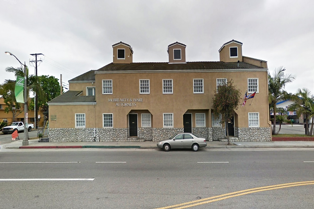 Before Renovations began on Anaheim St. Commercial Building