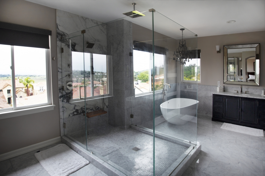 Transitional Bathroom Remodel - Newport Beach, CA - Satin ...
