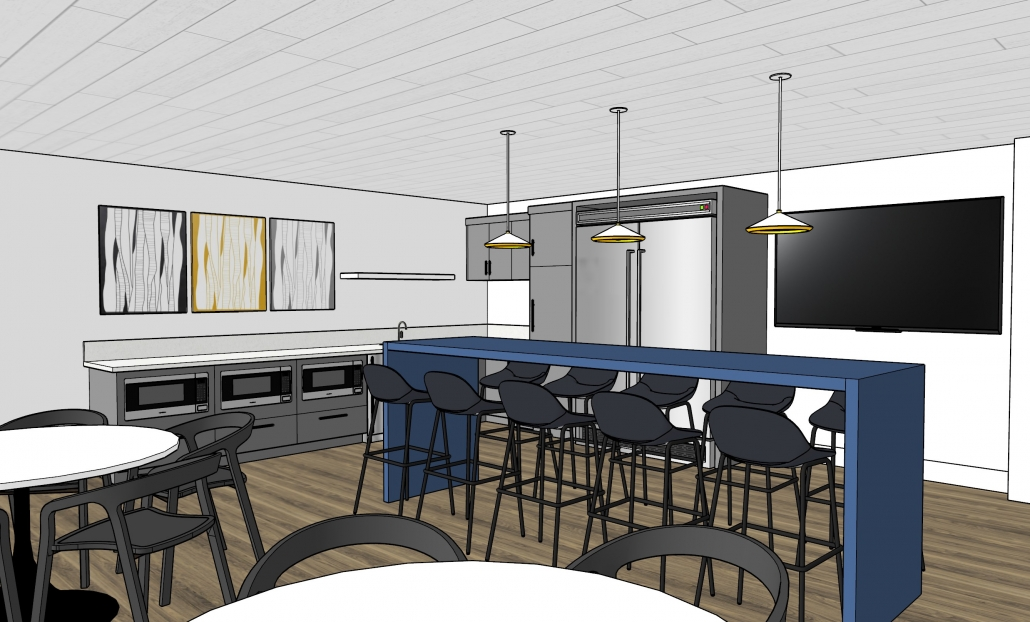 3D Rendering of Break Room 04