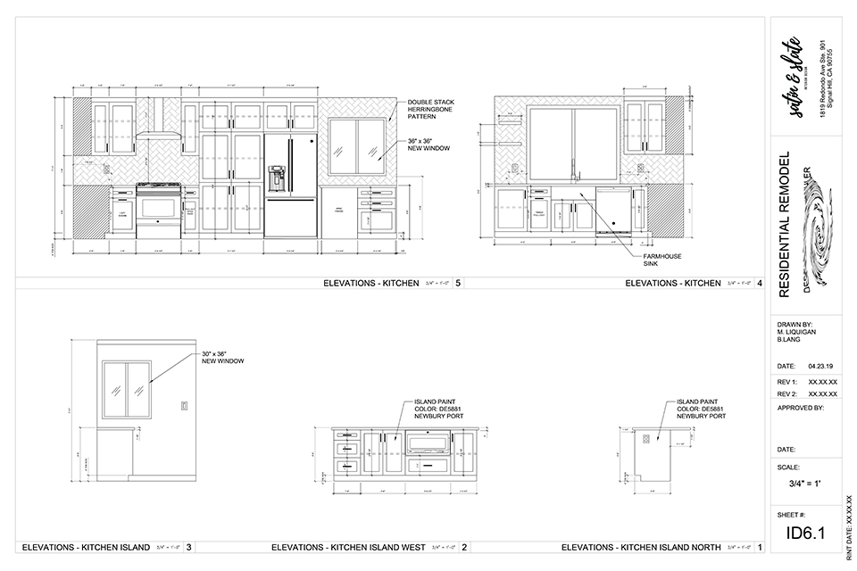 Plan with Kitchen Elevations