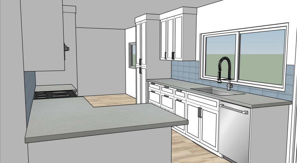 3D Rendering of Kitchen 01B