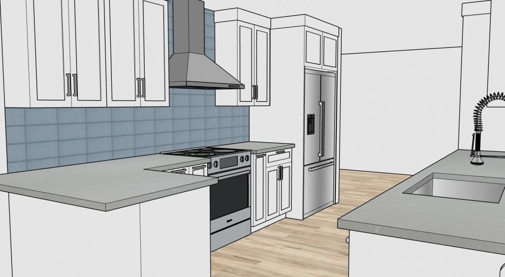 3D Rendering of Kitchen 03B