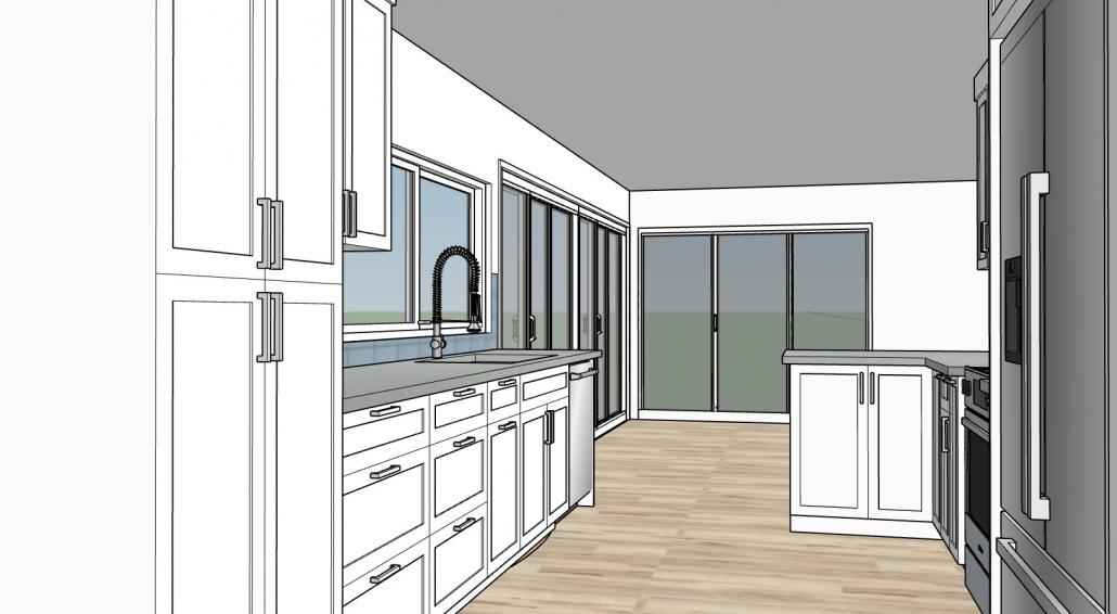 3D Rendering of Kitchen 04B