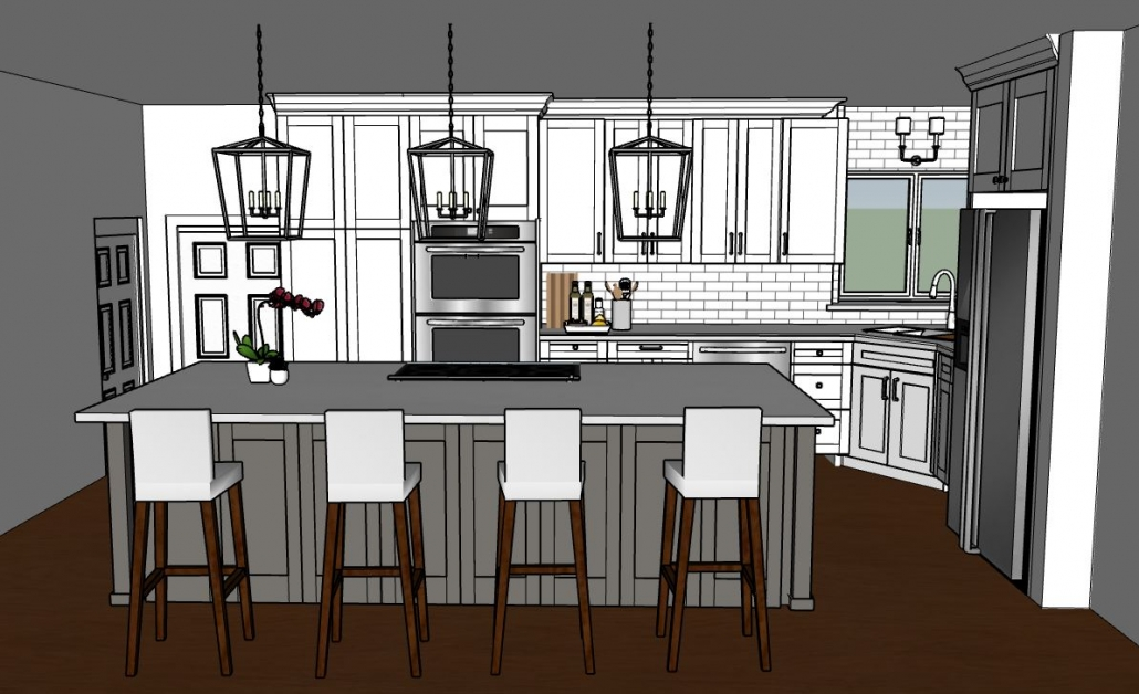 3D Rendering of Kitchen Design 2