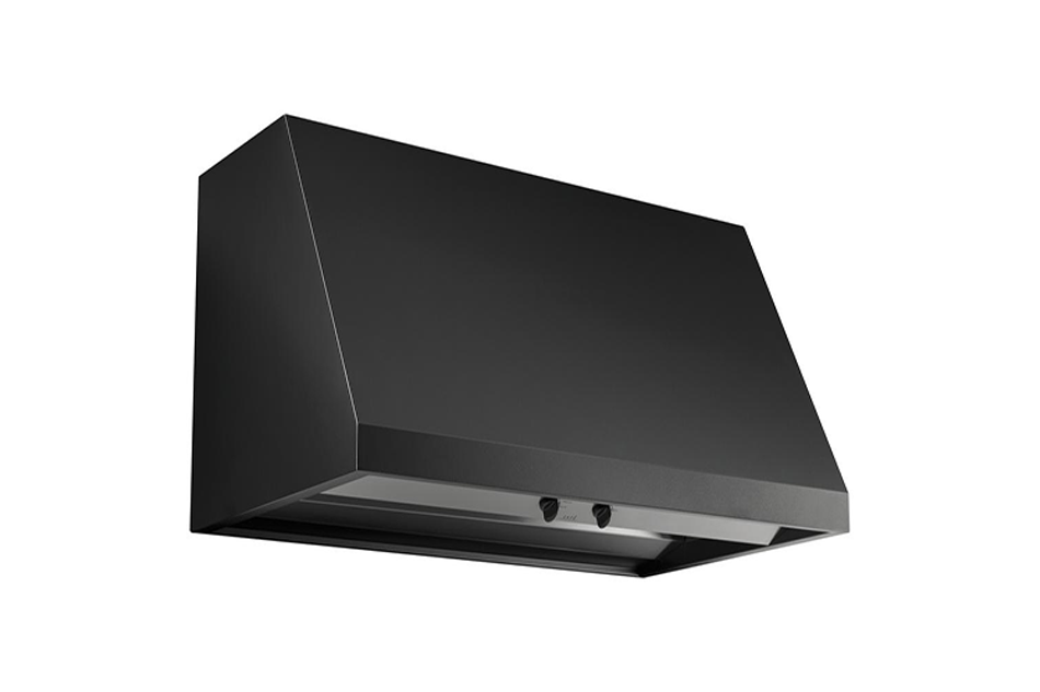 Cafe 30 in. Range Hood Telescopic Downdraft System with Light in Matte Black, Fingerprint Resistant