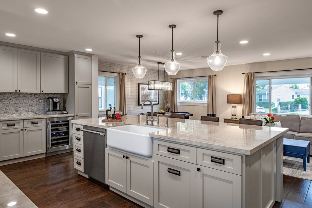 Pippen Open Concept Kitchen, Living & Dinning Area