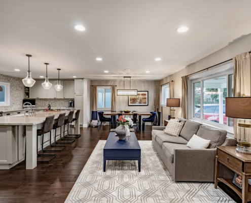 Pippen Open Concept Living, Dinning & Kitchen