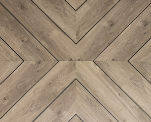 Geometric wooden floor pattern